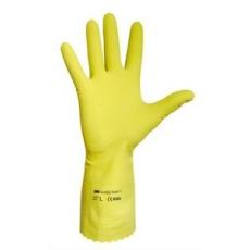 Védőkesztyű, latex, 10-es méret, sárga