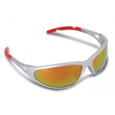 Védőszemüveg, tükrös, fényvédő lencsével,  Freelux , piros