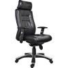 Főnöki szék, bőrborítás, fekete lábkereszt,  Vitelius , fekete