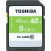 """Toshiba Memóriakártya, wifis, SDHC, 8GB, Class 10, TOSHIBA """"NFC UHS I"""""""