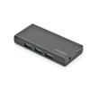 Ednet Hub 7-port USB 3.0 SuperSpeed, Power Supply, black