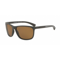 Emporio Armani EA4078 530583 BROWN RUBBER POLAR BROWN napszemüveg