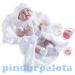 Élethű Berenguer Játékbabák - újszülött lány luxus baba fehér ruhában kiegészítőkkel 39cm