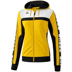 Erima 5-CUBES Training Jacket with Hood sárga/fekete/fehér zippes felső