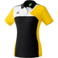 Erima Premium One Polo-shirt fekete/sárga/fehér galléros poló