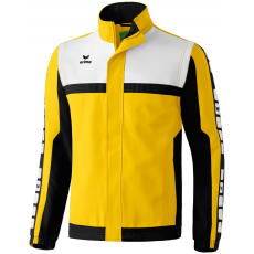 Erima 5-CUBES Jacket with detachable sleeves sárga/fekete/fehér