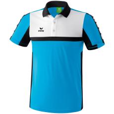 Erima 5-CUBES Polo-Shirt világos kék/fekete/fehér galléros poló