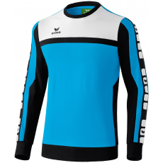 Erima 5-CUBES Sweatshirt világos kék/fekete/fehér pulóver
