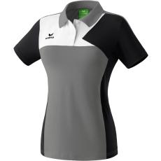 Erima Premium One Polo-shirt szürke/fekete/fehér galléros poló
