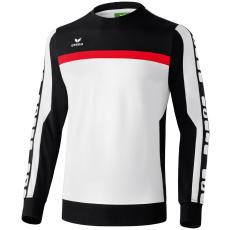 Erima 5-CUBES Sweatshirt fehér/fekete/piros pulóver