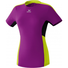 Erima Premium One Running T-shirt purple/lime/fekete poló