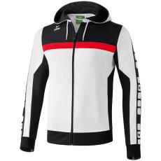 Erima 5-CUBES Training Jacket with Hood fehér/fekete/piros melegítő felső