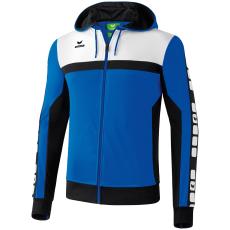 Erima 5-CUBES Training Jacket with Hood kék/fekete/fehér melegítő felső