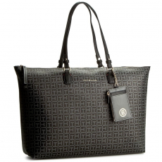 Tommy Hilfiger Táska TOMMY HILFIGER - Love Tommy Reversible Tote Logo AW0AW03284 901