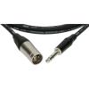 Klotz XLR-JACK kábel, 5 m – Klotz XLR3M - JACK3 csatlakozók + MY 206 fekete kábel