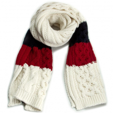 Tommy Hilfiger Sál TOMMY HILFIGER - Th Signature Knit Scarf AW0AW86179 Winter White/ChIlli Pepper/Midnight 904