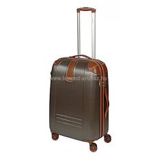 DIELLE barna négykerekű közepes bőrönd 155-M