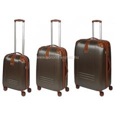 DIELLE barna négykerekű bőröndszett-3db 155-Szett