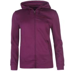 LA Gear Női kapucnis cipzáras pulóver lila L