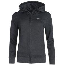 LA Gear Női kapucnis cipzáras pulóver sötétszürke 3XL