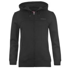LA Gear Női kapucnis cipzáras pulóver fekete XL