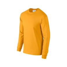 GILDAN hosszú ujjú környakas póló, aranysárga