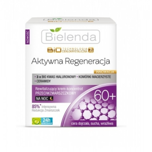 Bielenda Liquid Crystal Biotechnology 7D Active regeneration 60+ revitalizáló éjszakai krém 50 ml