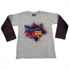 gyermek póló FC BARCELONA hosszú ujj - melange - méret: 3 év