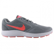 Nike Revolution 3 női sportcipő, Wolf Grey/Orange, 39 (819303-002-8)