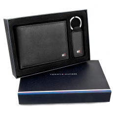 Tommy Hilfiger Zestaw upominkowy TOMMY HILFIGER - Eton Ho Cc Flap And Coin Pocket Box AM0AM01184 002