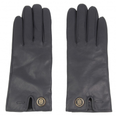 Tommy Hilfiger Női kesztyűk TOMMY HILFIGER - TH Coin Leather Gloves AW0AW03338 S/M 001