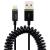Leitz Complete Lightning-USB spirálkábel - fekete