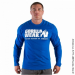 RUBBER PRINTED LONG SLEEVE (ROYAL BLUE) [XL]