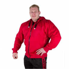 LOGO HOODED JACKET (TANGO RED) [XL]