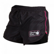 NEW MEXICO CARDIO SHORTS (BLACK/PINK) [XS]