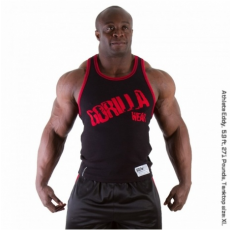 STAMINA  RIB TANK TOP (BLACK/TANGO RED) [S]