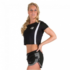 COLUMBIA CROP TOP (BLACK/WHITE) [L]