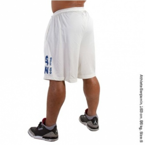 SUPERIOR MESH SHORTS (WHITE) [XXXL]