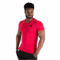 ESSENTIAL V-NECK T-SHIRT (RED) [XXXL]