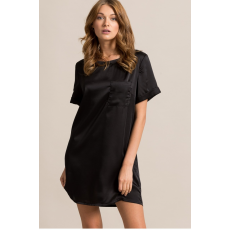 Missguided Ruha Satin Pocket Shift Dress