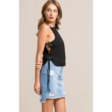 Missguided Top Lace Up