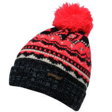 Golddigga női sapka - Golddigga Fair Isle Bobble Winter Hat Ladies