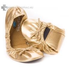 Scholl Pocket Balerina cipő arany színben 1 pár + 1pár ajándék!