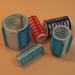 EF-ES pattintós műanyag hajcsavaró, 20 mm, 8 db