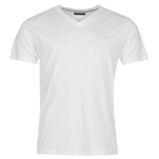 Pierre Cardin Cardin férfi V nyakú póló fehér S