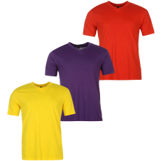 Donnay Three Pack férfi V nyakú póló piros XXL