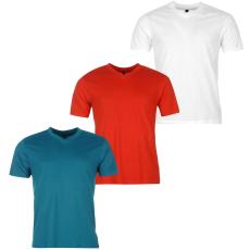Donnay Three Pack férfi V nyakú póló fehér XL