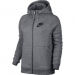 Nike Rally női kapucnis felső, Carbon Heather/Grey, XS (803601-091-XS)