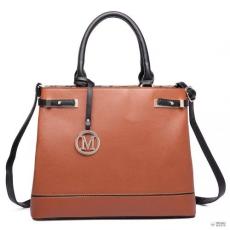 Barna Miss Lulu London LT6617-MISS LULU bevásárló táska táska val zseb in szintetikus bőr barna