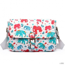 Miss Lulu London E1656NEW-Miss Lulumattte oilcloth dorable virágos táska elephant print